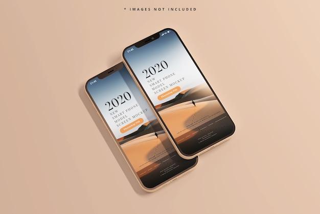 Moderne slimme telefoons mockup Gratis Psd