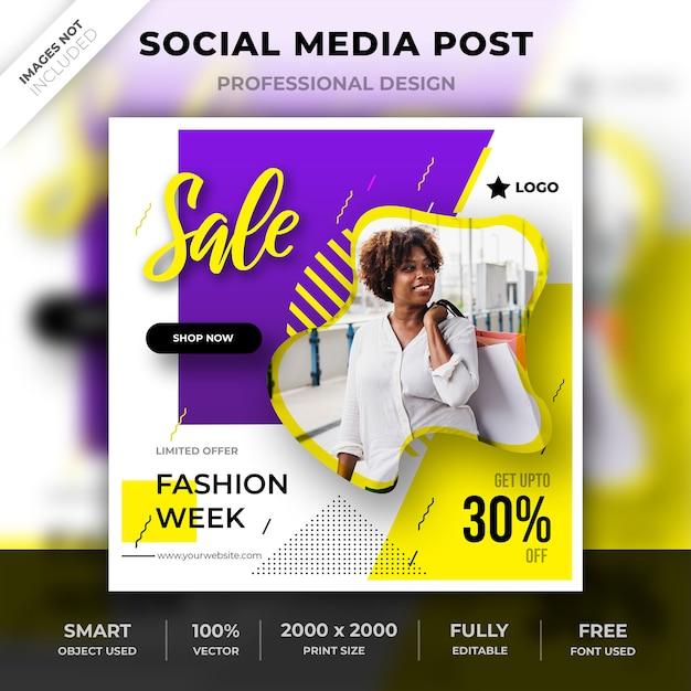 Moderne sociale media post Premium Psd