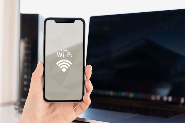 Moderne technologie voor apparaten met wifi-instelling Gratis Psd