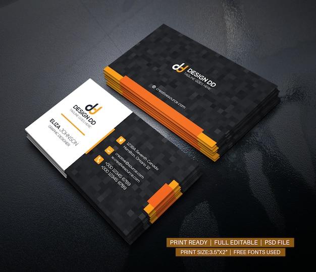 Moderno biglietto da visita aziendale pulito Psd Premium