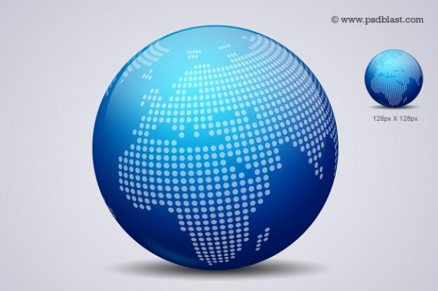 Mondo globo design icon psd Psd Gratuite