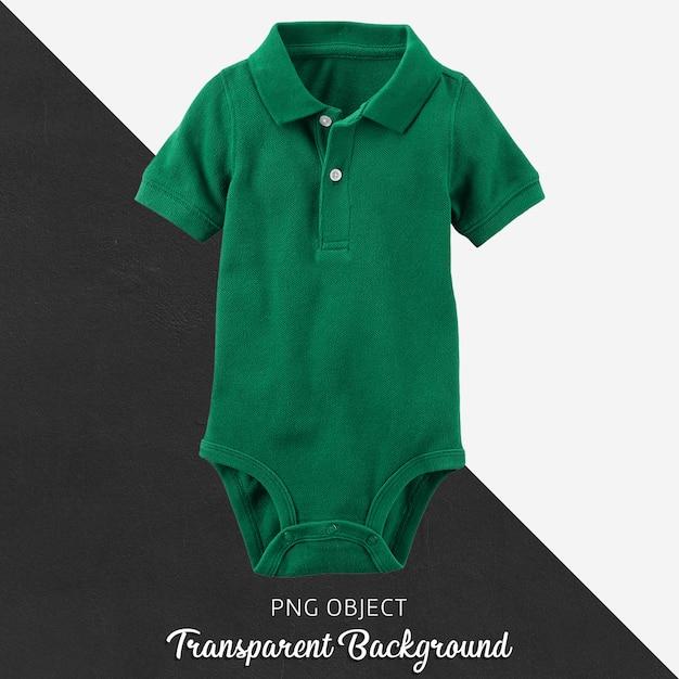 Mono de polo verde para bebé o niños sobre fondo transparente. PSD Premium