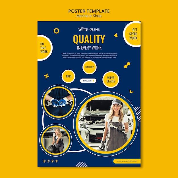 Monteur winkel poster sjabloon Premium Psd