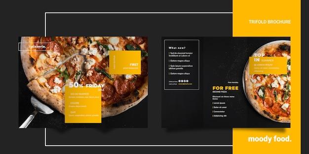 Moody restaurant eten driebladige brochure mock-up Gratis Psd