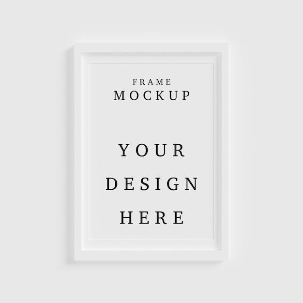 Mooi frame concept mockup in lege ruimte Premium Psd