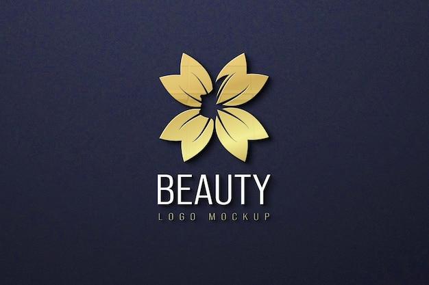 Mooi logo mockup design Premium Psd
