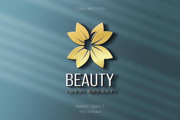 Mooi logo mockup op muurontwerp Premium Psd