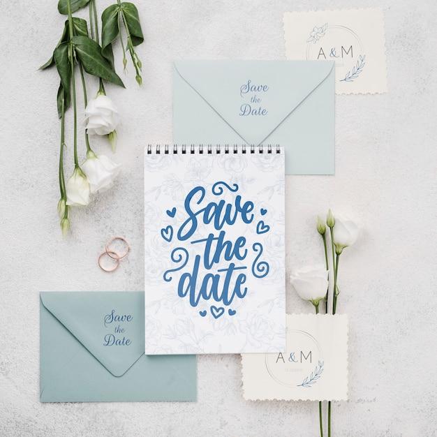Mooie bruiloft concept mock-up Gratis Psd