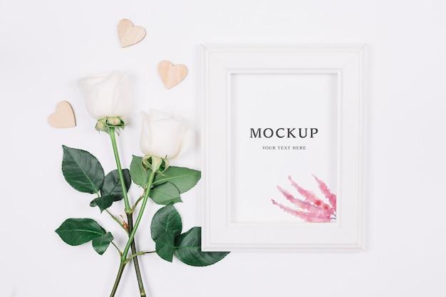 Mooie bruiloft concept mock-up Premium Psd