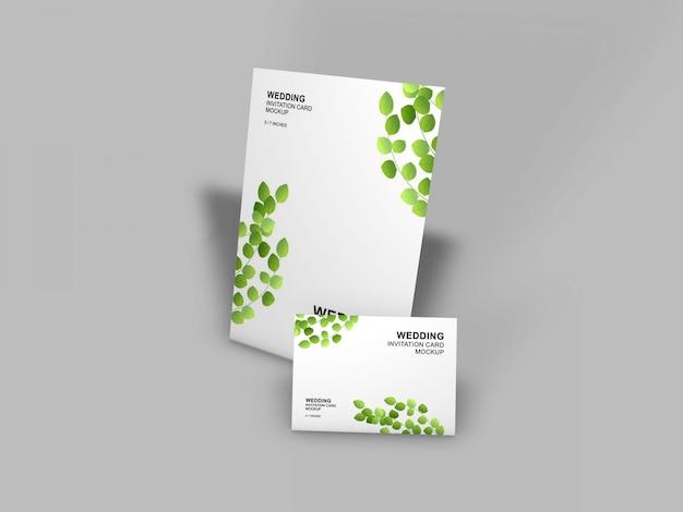 Mooie bruiloft kaart mockup sjabloon Premium Psd