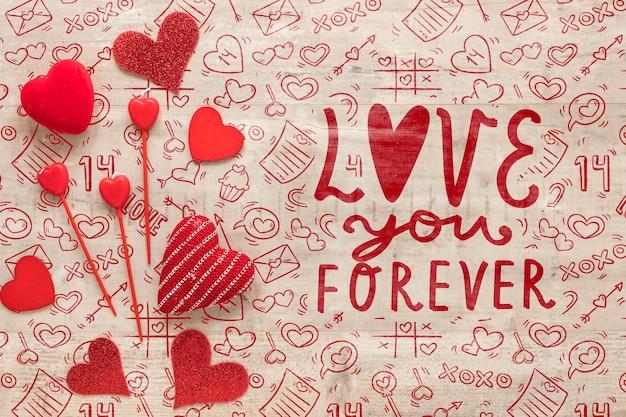 Mooie valentijnsdag concept Gratis Psd