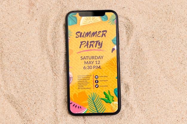 Mooie zomerse concept mock-up Gratis Psd
