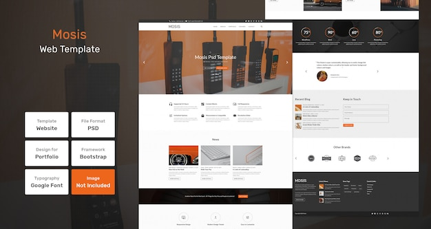 Mosis-websjabloon Premium Psd