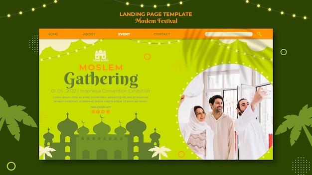 Moslim verzamelen bestemmingspagina-sjabloon Gratis Psd