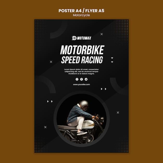 Motorfiets concept posterontwerp Gratis Psd