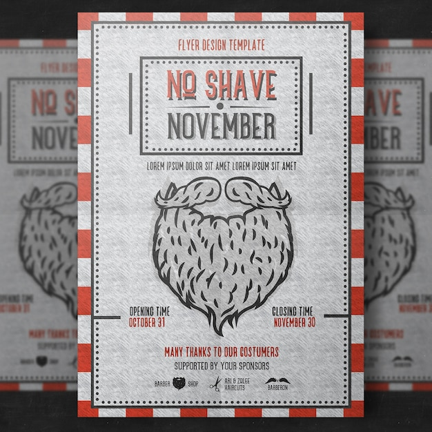 Movember poster sjabloon Premium Psd
