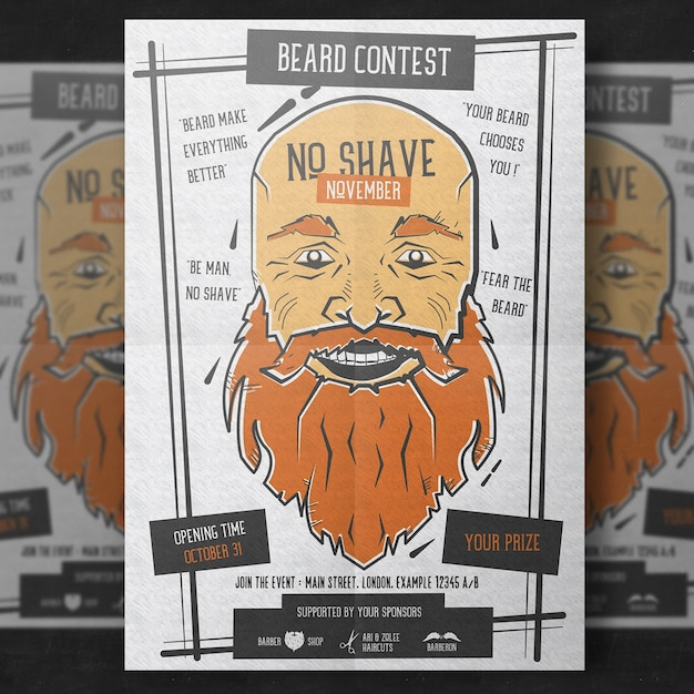 Movember poster sjabloon Premium Psd
