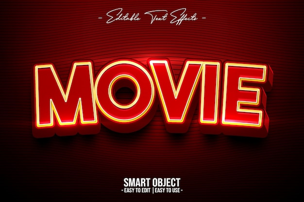 Movie-text-style-effect Gratis Psd