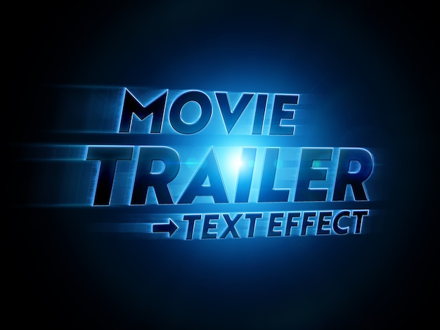 Movie title text effect mockup Psd Premium