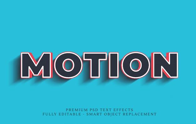 Movimiento efecto de estilo de texto 3d PSD Premium