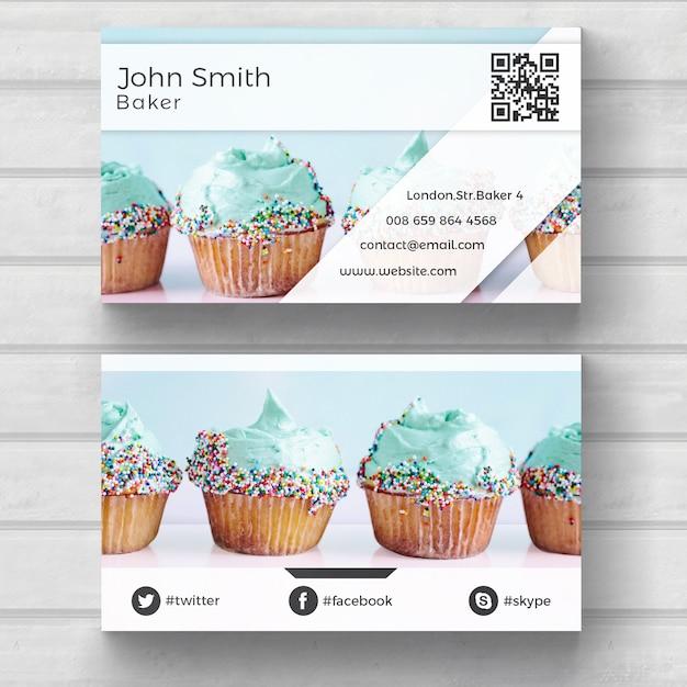 Muffin adreskaartje Gratis Psd
