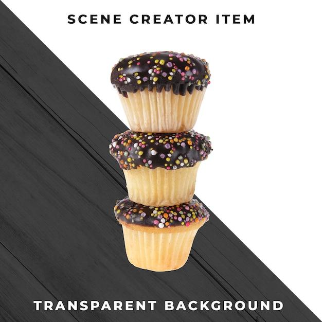 Muffin-object op transparante psd Gratis Psd
