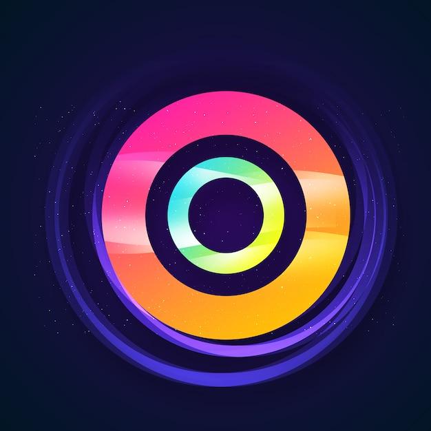 Multicolor cirkel achtergrond Premium Psd