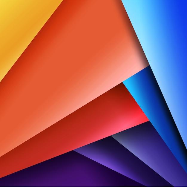 Multicolor geometrisch ontwerp Gratis Psd
