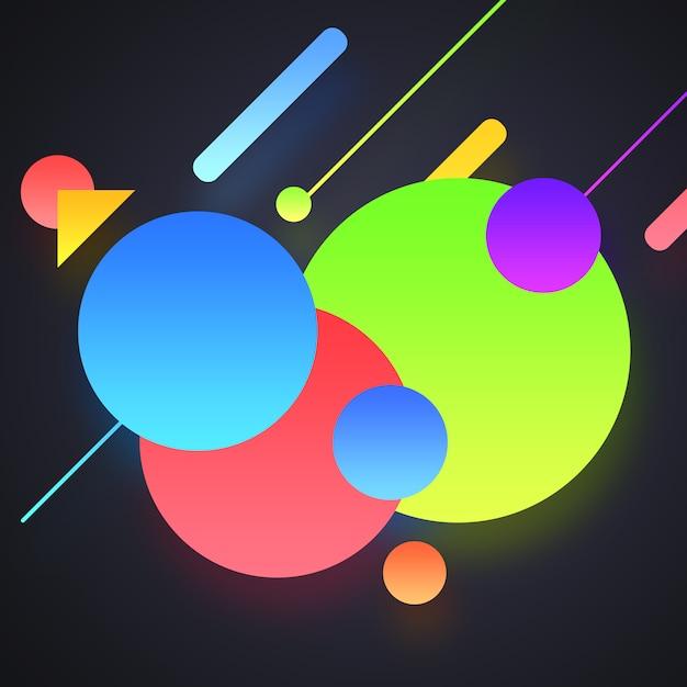 Multicolor vormen achtergrond Gratis Psd