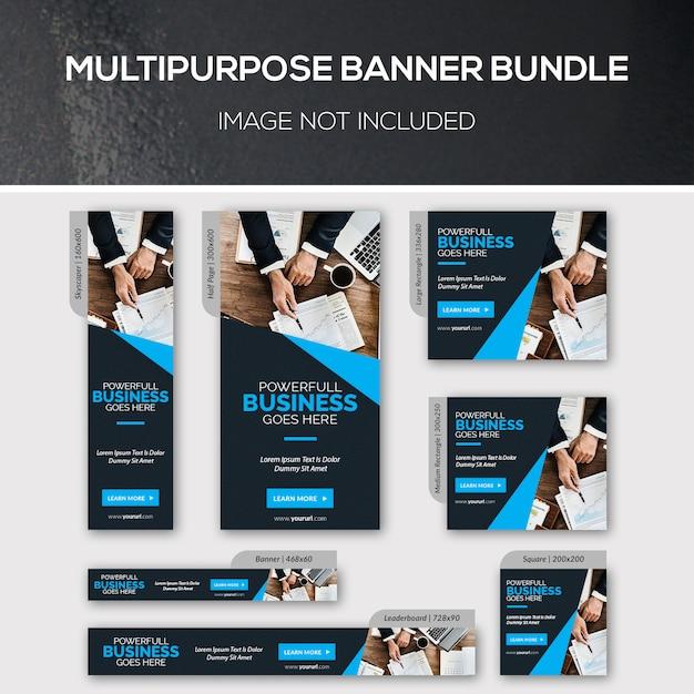 Multifunctionele bannerbundel Premium Psd