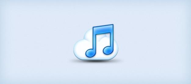 Musica cloud icona Psd Gratuite