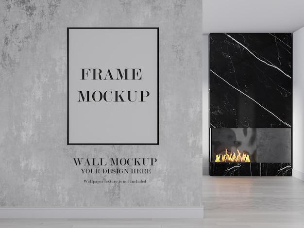 Muur en fotolijst lege achtergrond Premium Psd
