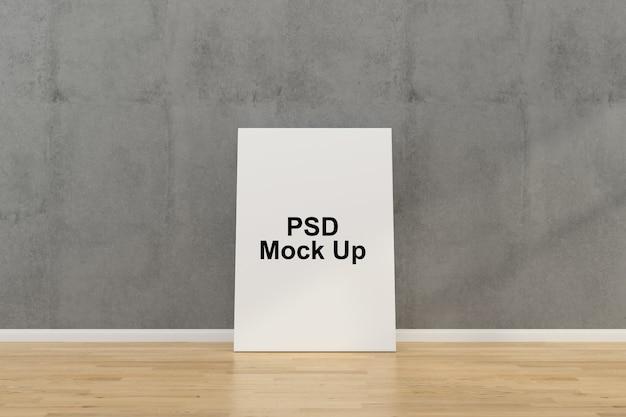 Muurkader mock-up sjabloon Premium Psd