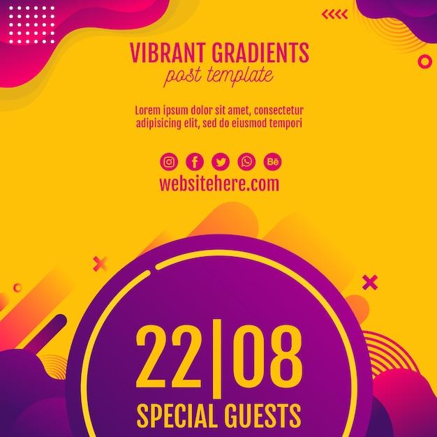 Muziekfestival geel achtergrondmalplaatje Gratis Psd