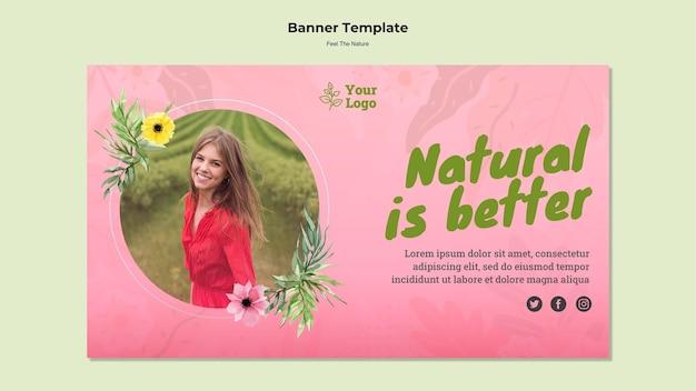 Natural es mejor plantilla de banner PSD gratuito
