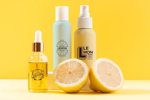 Natuurlijke cosmetica concept met citroensap Gratis Psd