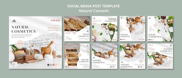 Natuurlijke cosmetica social media post Gratis Psd