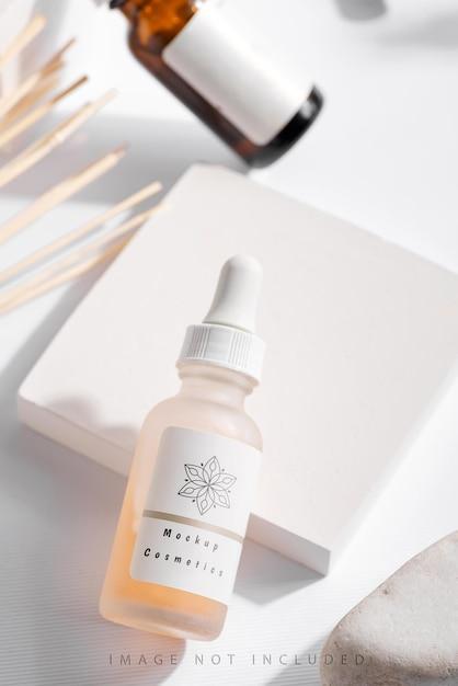 Natuurlijke schoonheidscosmetische producten voor huidverzorging Premium Psd