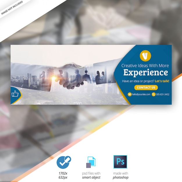 Negocios marketing facebook timeline portada banner PSD Premium