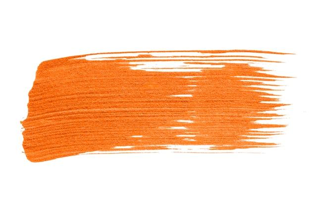 Neon oranje penseelstreek achtergrond Gratis Psd