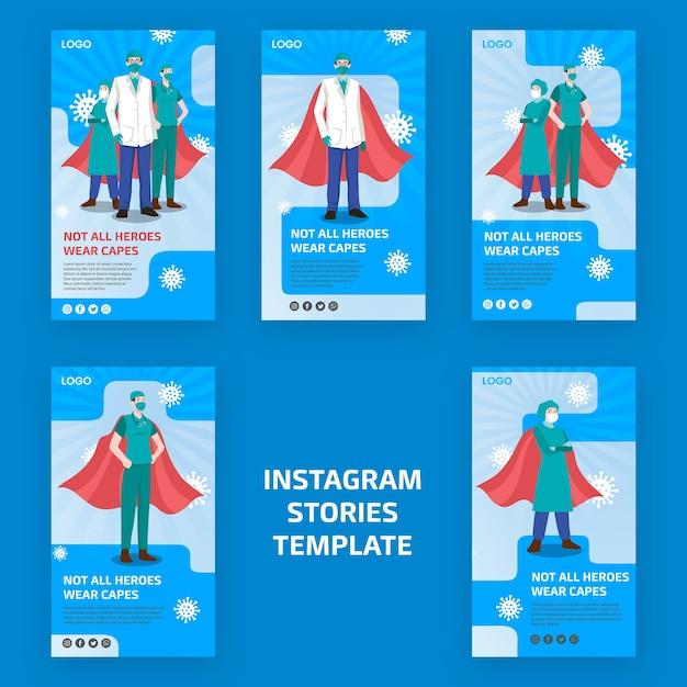 Niet alle helden dragen capes instagram-verhalen Gratis Psd