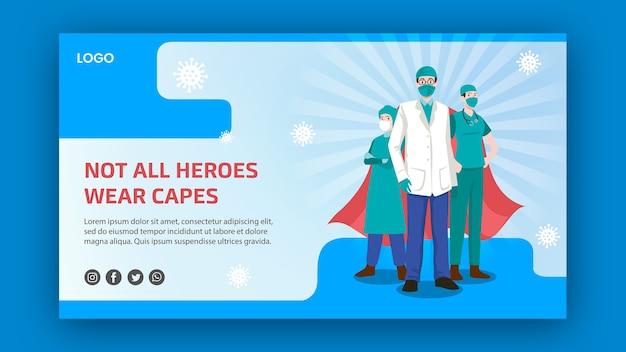 Niet alle helden dragen een capes-banner Gratis Psd
