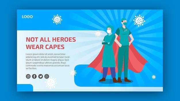 Niet alle helden dragen het bannerthema capes Gratis Psd