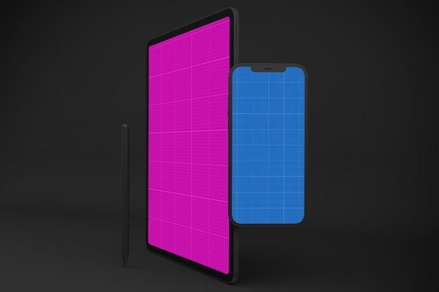 Nieuw model voor smartphone 12 en digitale tablet pro Premium Psd