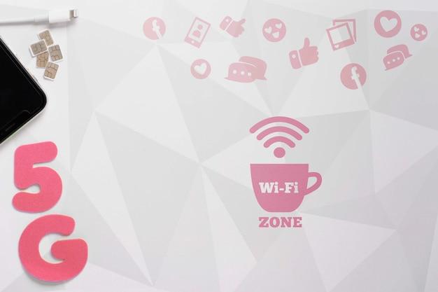 Nieuwe technologie met 5g wifi-verbinding Gratis Psd