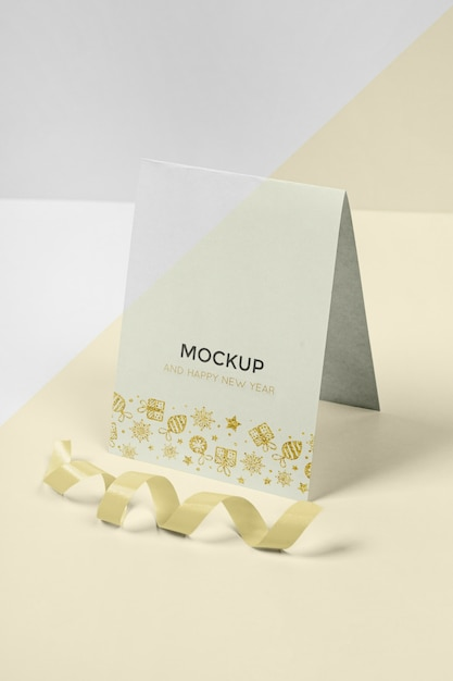 Nieuwjaar concept mock-up Gratis Psd