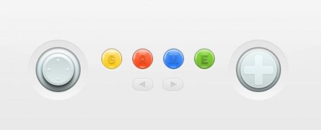 Nintendo console kleurrijke knoppen Gratis Psd