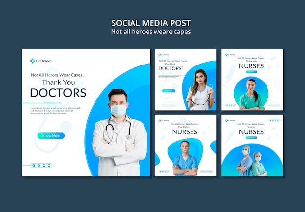 No todos los héroes llevan capas en las redes sociales PSD Premium
