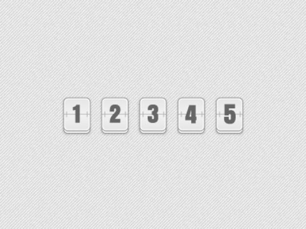número de aletas Psd Gratis