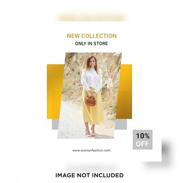 Nuova collezione modello post social media Psd Premium